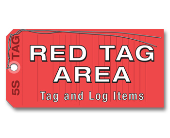 5S Red Tag Area Sign