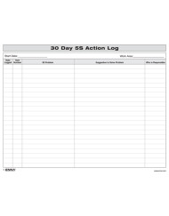 5S 30 Day Action Log
