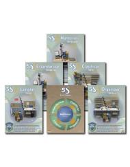 5S Planta de Producción con el Póster de Resumen 5S