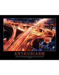 Enthusiasm Poster - Will Rogers Quote - Junction