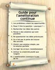 French Continuous Improvement Poster
