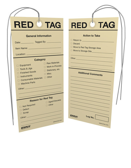 ISO 5S Tags - Enna com
