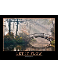 Let It Flow Poster - Business is Service - Bridge and Stream