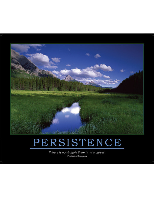 Persistence Quote Poster Persistence Poster Frederick