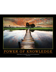 Power of Knowledge Poster - Shigeo Shingo Quote