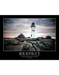 Respect Poster - Hevesi Quote - Lighthouse