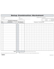 SMED Quick Changeover Setup Combination Worksheet
