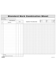 Standard Work Combination Sheet