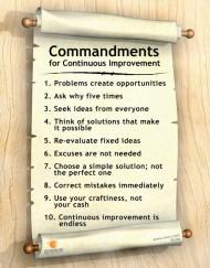 Continuous Improvement Poster Commandments