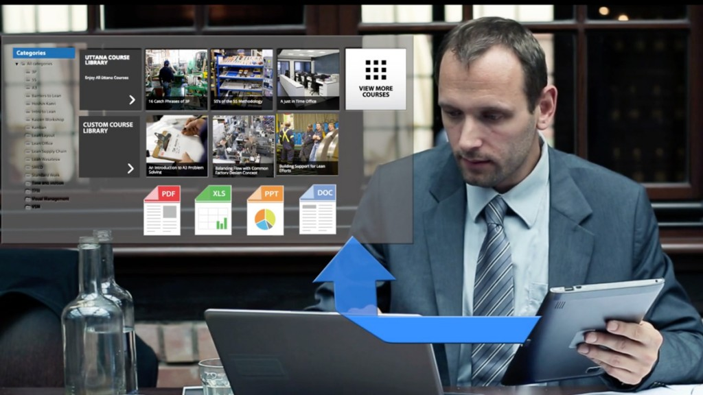 Lean eLearning Content on a Tablet
